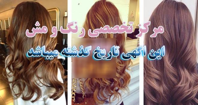 آرایشگاه رنگ مو در تهران ( سرکار خانم  )