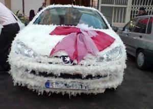 مدل تزئین ماشین عروس