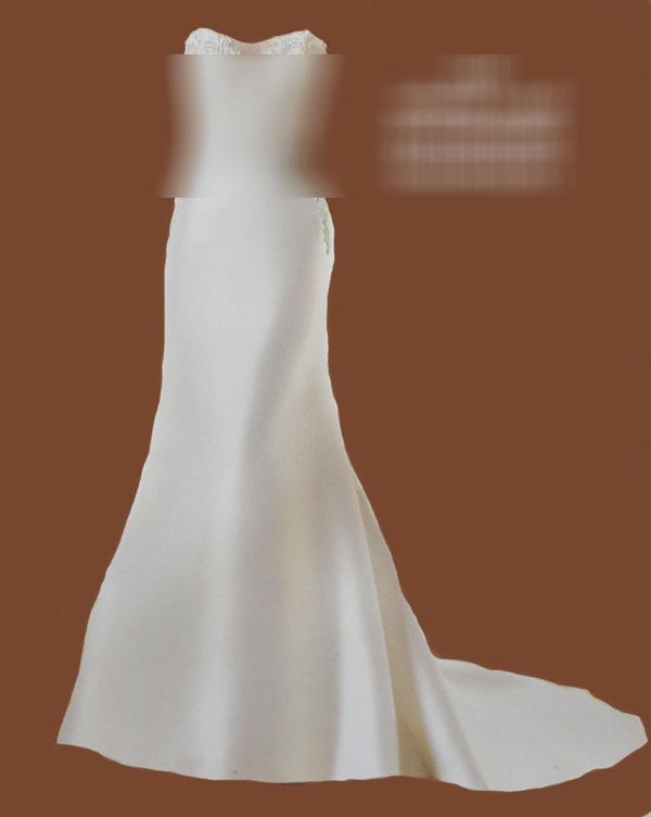 لباس عروس دنباله دار دکلته دانتل