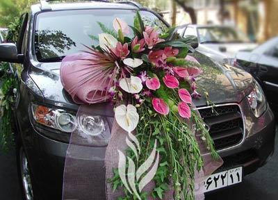 عکس ماشین عروس سمند سوناتا سانتافه مشکی سفید ساده وشیک  در تهران در ایران سوناتا پورشه اپل تویوتا جک
