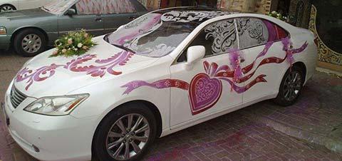 عکس ماشین عروس جدید تزیین مدل ماشین عروس 2015 2016