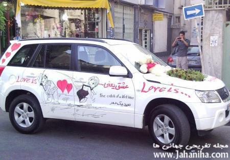 مدل ماشین عروس قدیمی,قشنگنرین مدل ماشین عروس مدل ماشین عروس قشنگ مدل قلب گل رز قرمز