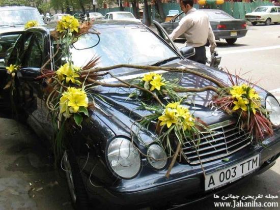 عکس ماشین عروس شیک ایرانی مهدی سلوکی زیبا جدید