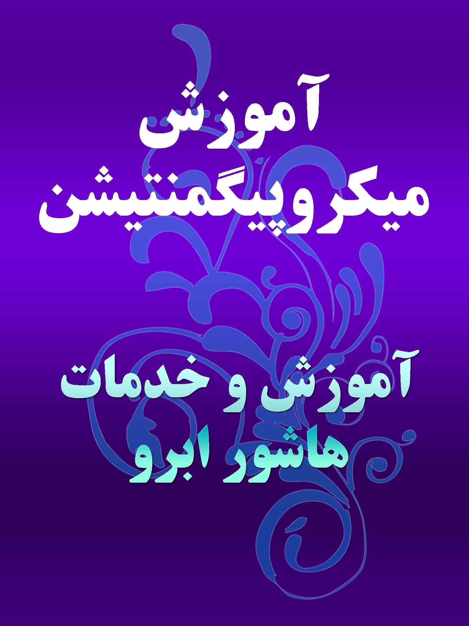 آموزش میکروپیگمنتیشن در تهران,هاشور ابرو غرب تهران