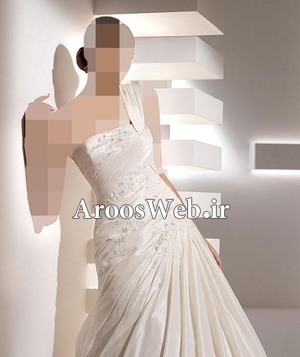 اجاره لباس عروس دانتل ,لباس عروس پوشیده ایرانی جدید